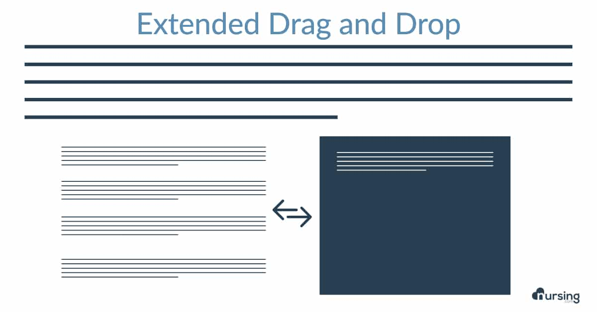 extended drag and drop new nclex